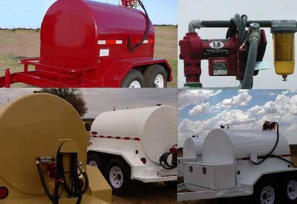 Easy pump fuel tank trailers