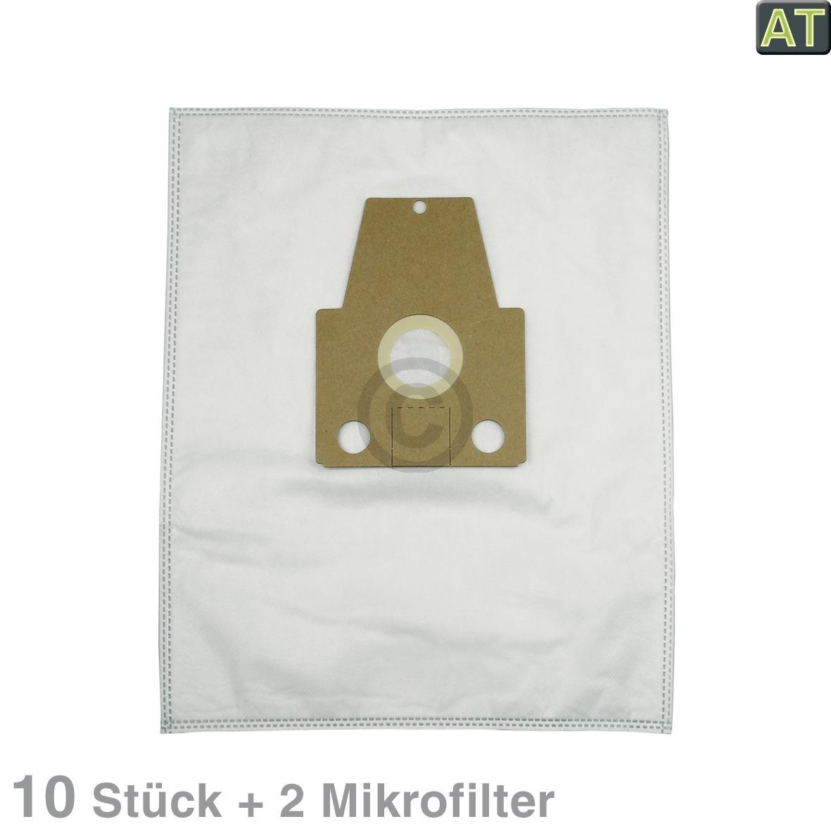 Filterbeutel MisterVac MV-601 u.a. für Bosch Siemens Bodenstaubsauger 10Stk +