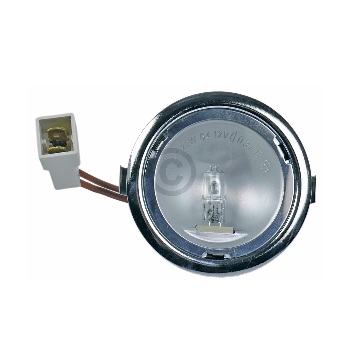 Halogenlampe G4 20W 12V AEG 5026158400/2 kpl mit Gehäuse für Dunstabzugshaube