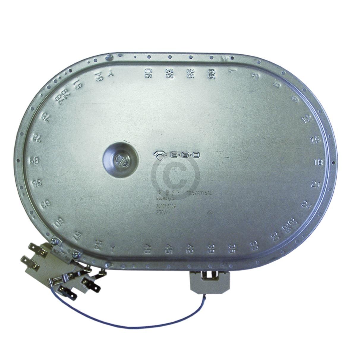 Strahlheizkörper 265x170mm 2400/1500W 230V oval 374063926 AEG, Electrolux, Juno,
