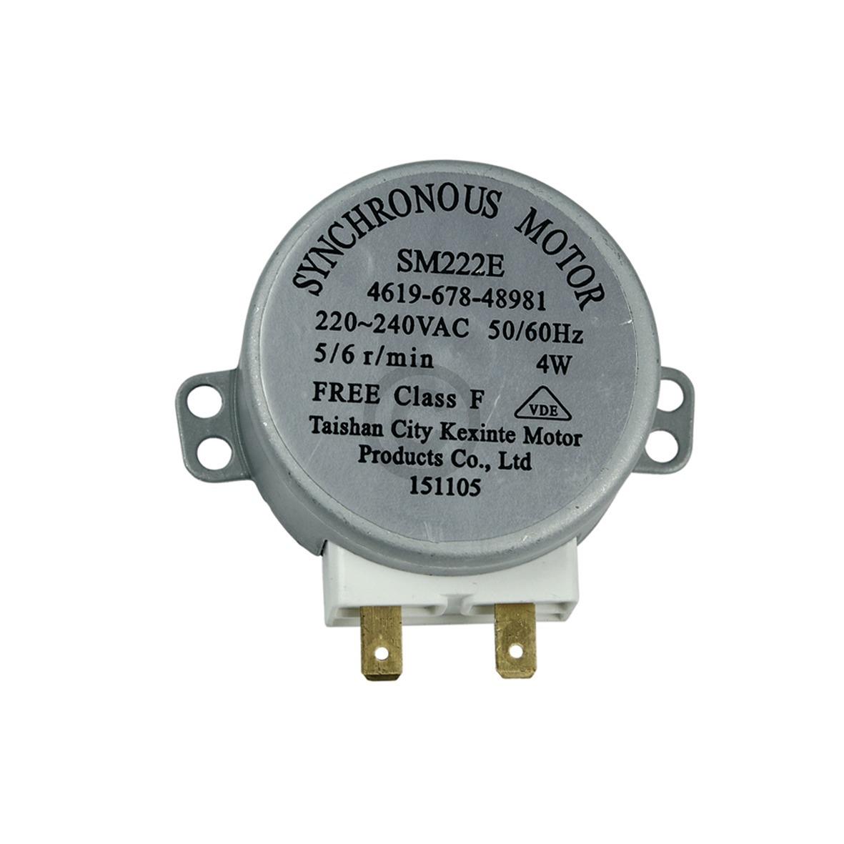Drehtellermotor 4W 481067848981 Bauknecht, Whirlpool, Ikea, Indesit Hotpoint