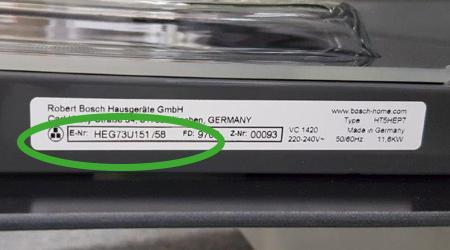 Typennummern bei Bosch