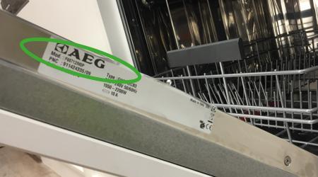Typennummern bei AEG