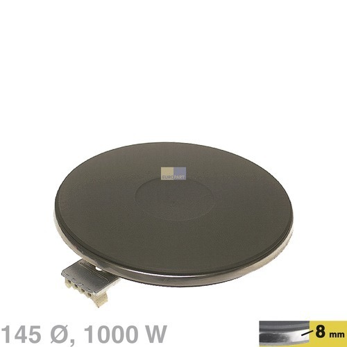 Kochplatte 145mmØ 1000W 230V, AT! Bauknecht, Whirlpool, Ikea, Indesit Hotpoint