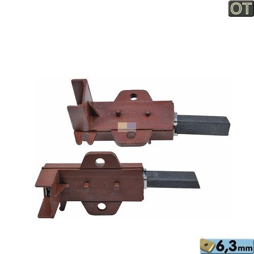 Kohlen kpl. 6,3mmAMP C00196539 Indesit Hotpoint, Bauknecht, Whirlpool, Ikea