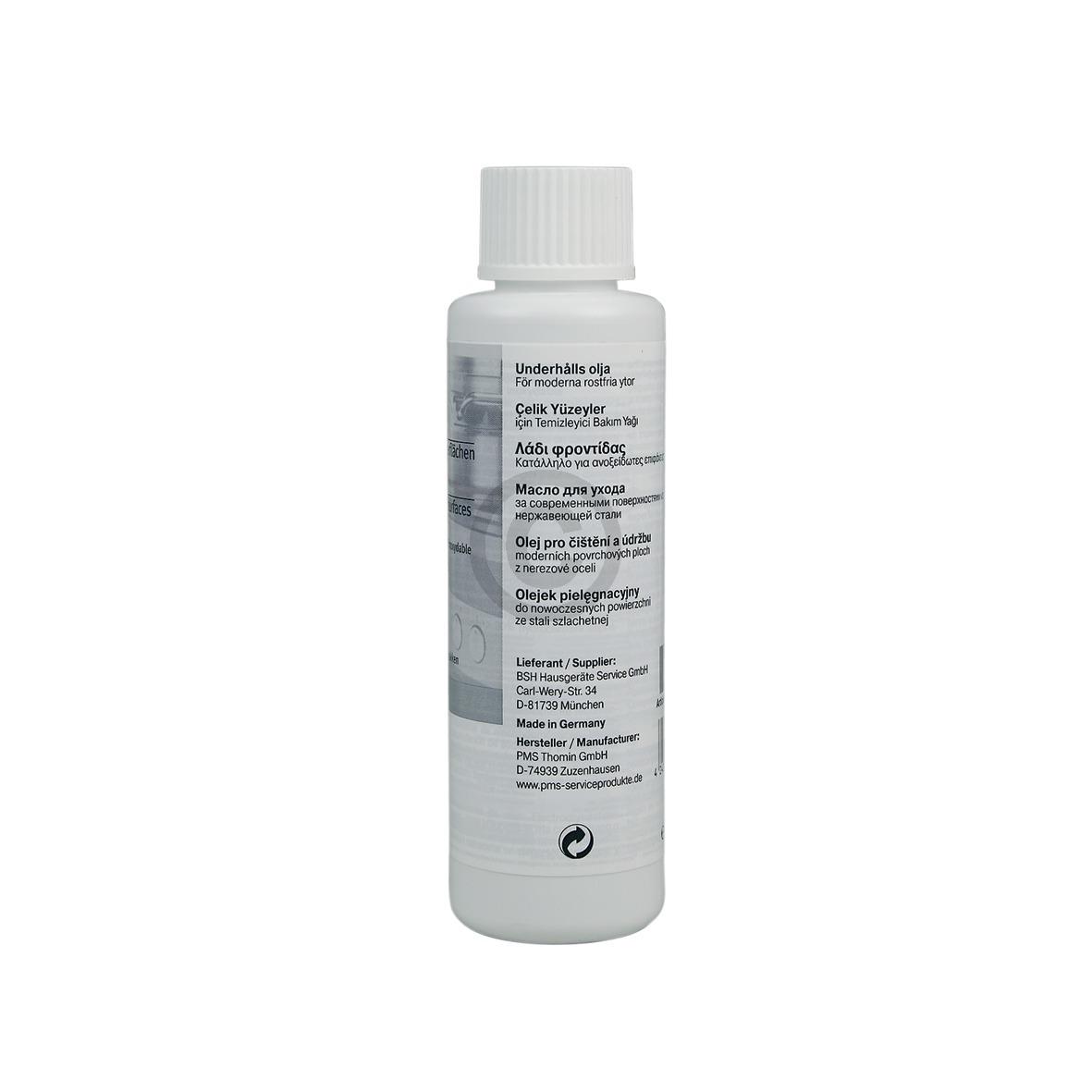 Edelstahlpflege Öl BSH protect 100ml 00311135 311135 Bosch, Siemens, Neff