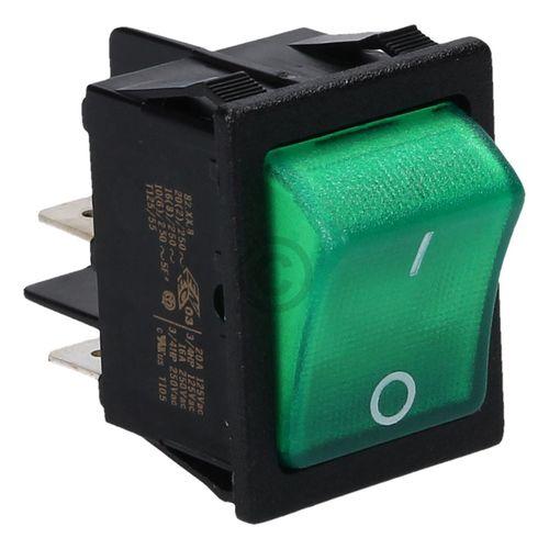 Wippschalter DOMETIC 292627410 Ein Aus grün 230V für Absorberkühlschrank