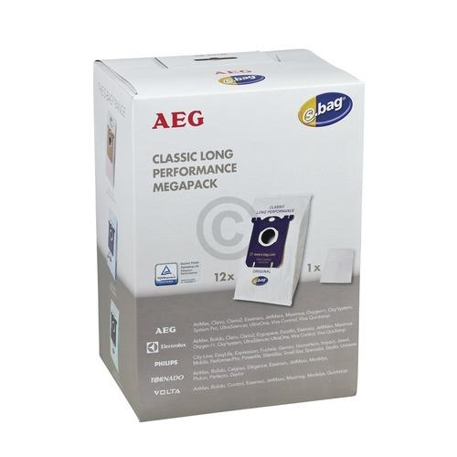 Filterbeutel AEG 90016697/6 Gr201M s-bag® für Bodenstaubsauger 12Stk 900168824/2