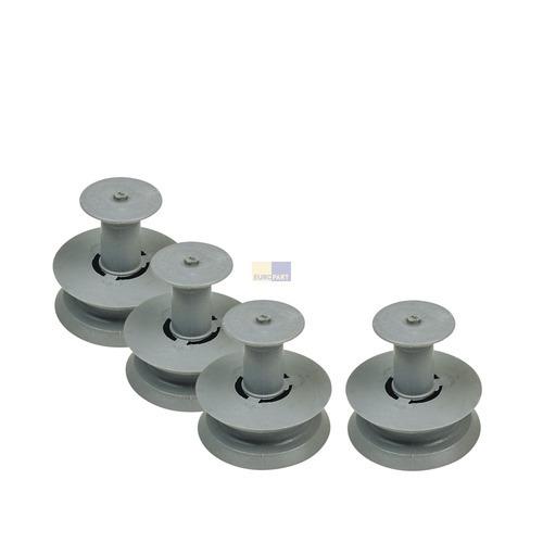 Korbrolle für Oberkorb, 4 Stück 481252888113 Bauknecht, Whirlpool, Ikea, AEG, El