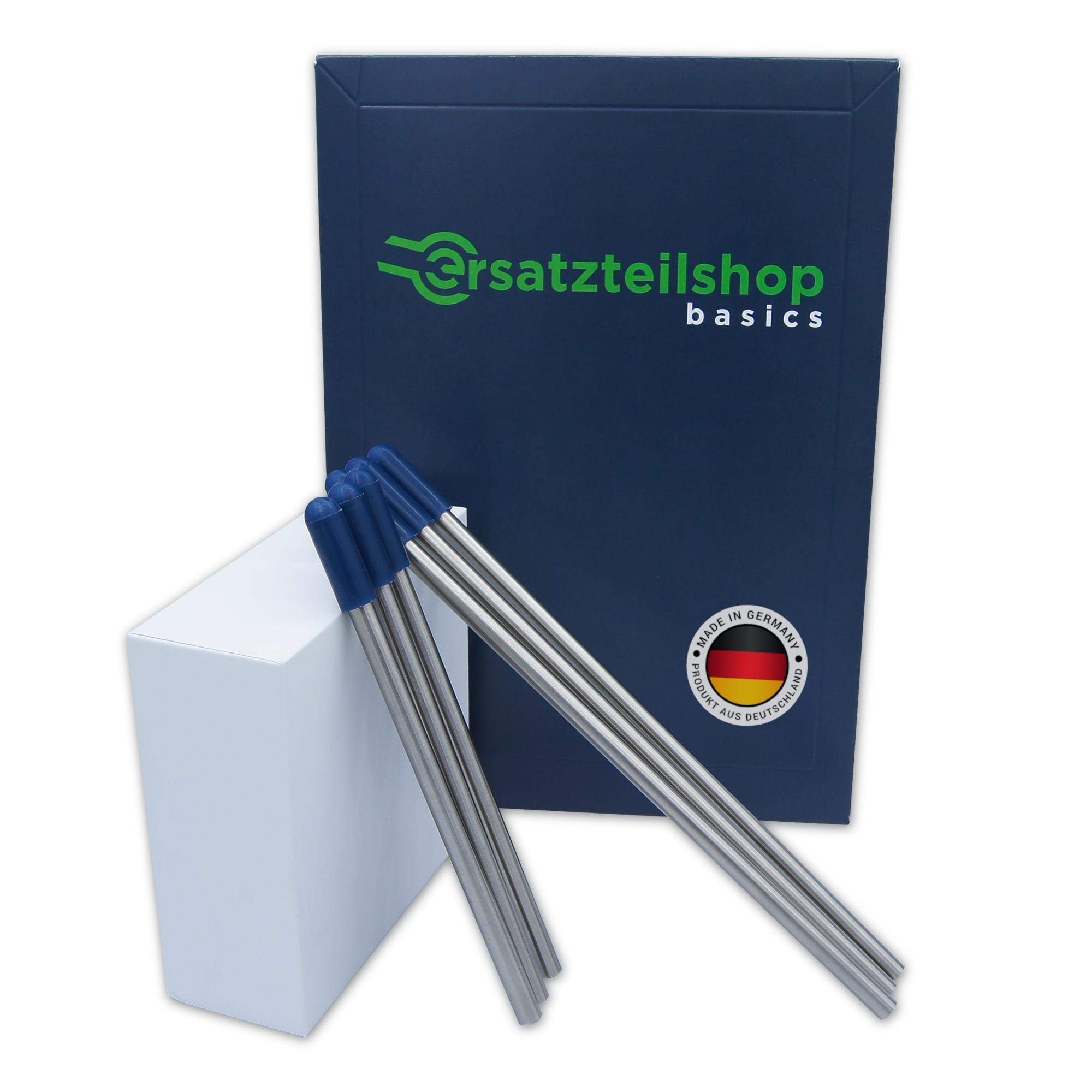 Edelstahl Flaschenhalter und Glashalter für Geschirrspüler/Spülmaschine mit blauen Kappen - Set Allrounder - absolut kratzfrei - von ersatzteilshop basics