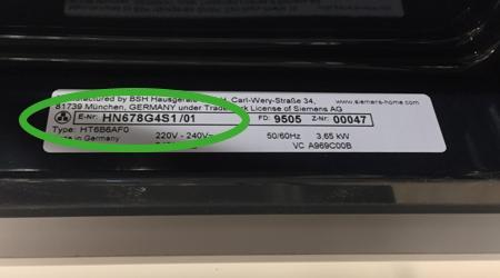 Typennummern bei Siemens