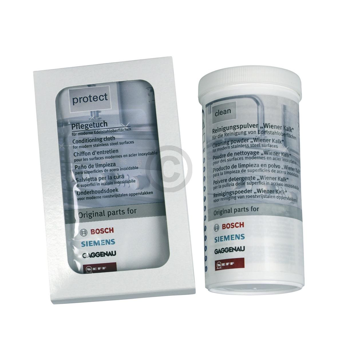 EdelstahlPflegeSet Bosch 00311775 BSH clean+protect Bosch, Siemens, Neff