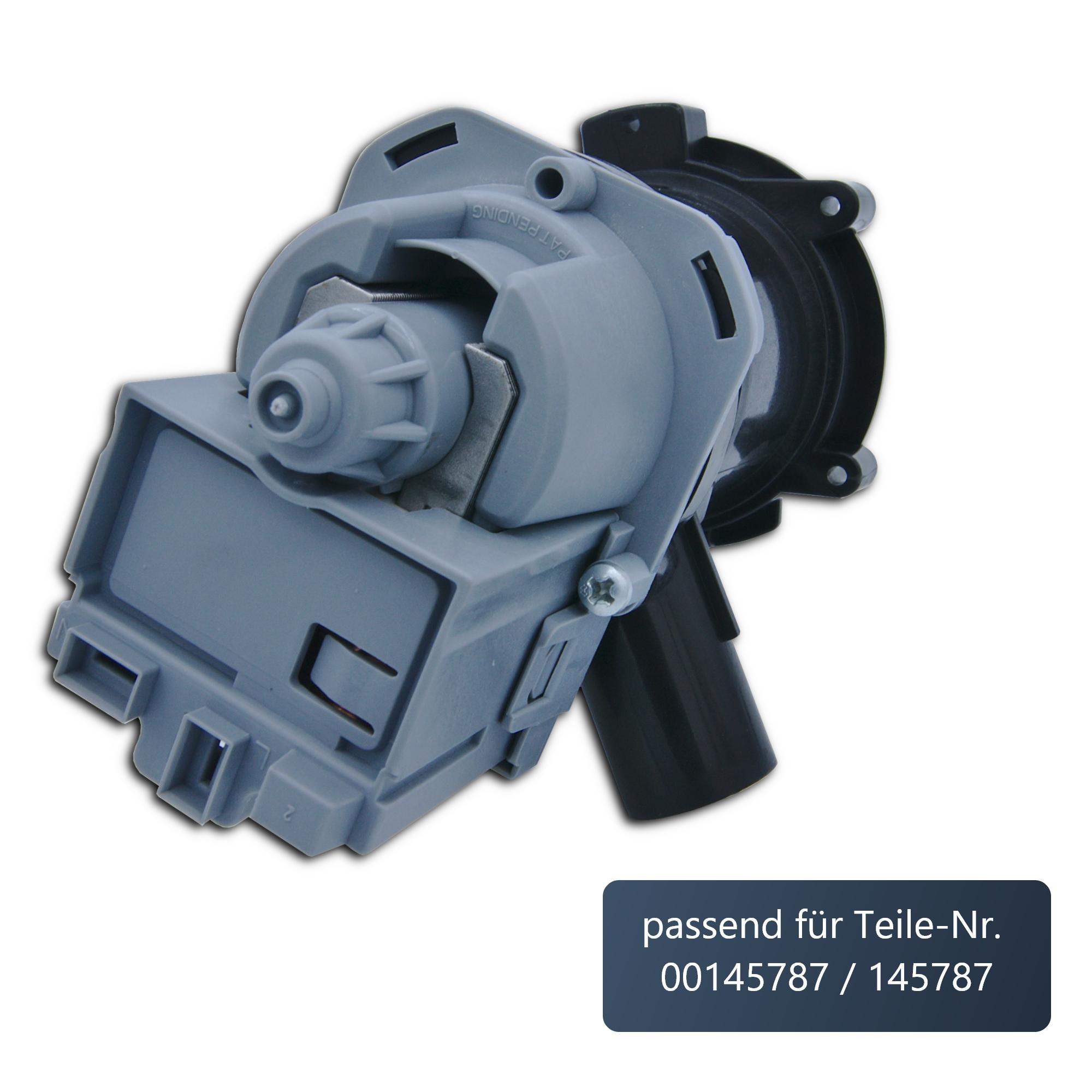 ersatzteilshop basics Laugenpumpe/Pumpe/Ablaufpumpe für diverse Waschmaschinen von Bosch/Siemens/Constructa | passend wie 00145787/145787