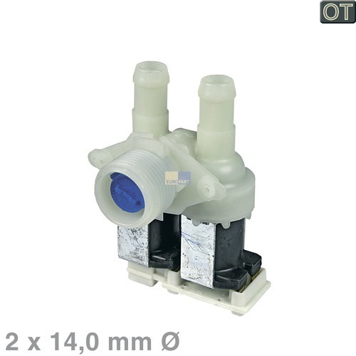 Magnetventil 2-fach 90° 14,0mmØ 481227128558 Bauknecht, Whirlpool, Ikea