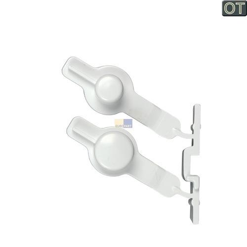 Tastenkappe weiß, 2-fach 481251318172 Bauknecht, Whirlpool, Ikea