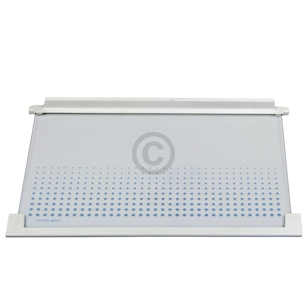 Glasplatte AEG 225137453/0 475x315mm mit Leisten für Kühlschrank