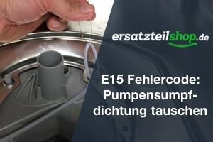 Geschirrspüler E15 - Pumpensumpf Dichtung tauschen