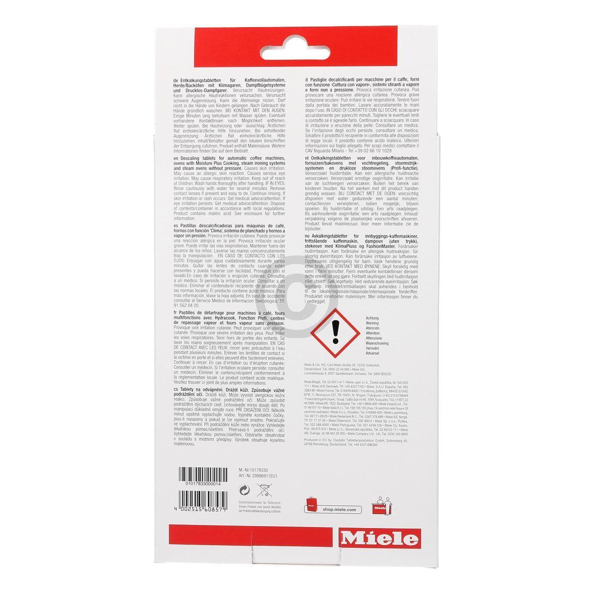 Entkalker Tabs für Geräte, Miele 6x50g 10178330 Miele