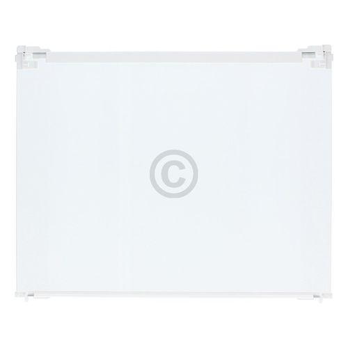 Glasplatte Liebherr 7272636 495x400mm mit Leisten für Auszugsschiene