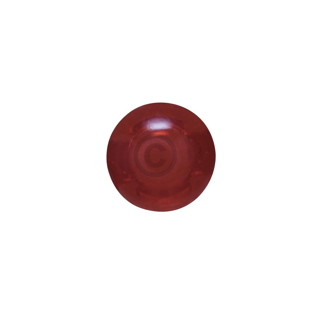 Lampenabdeckung Ø7mm rot, rund 481946279749 Bauknecht, Whirlpool, Ikea