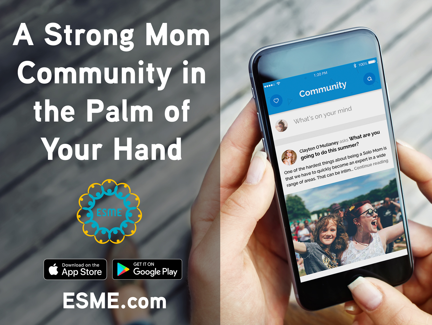Check out ESME's app for Solo Moms.