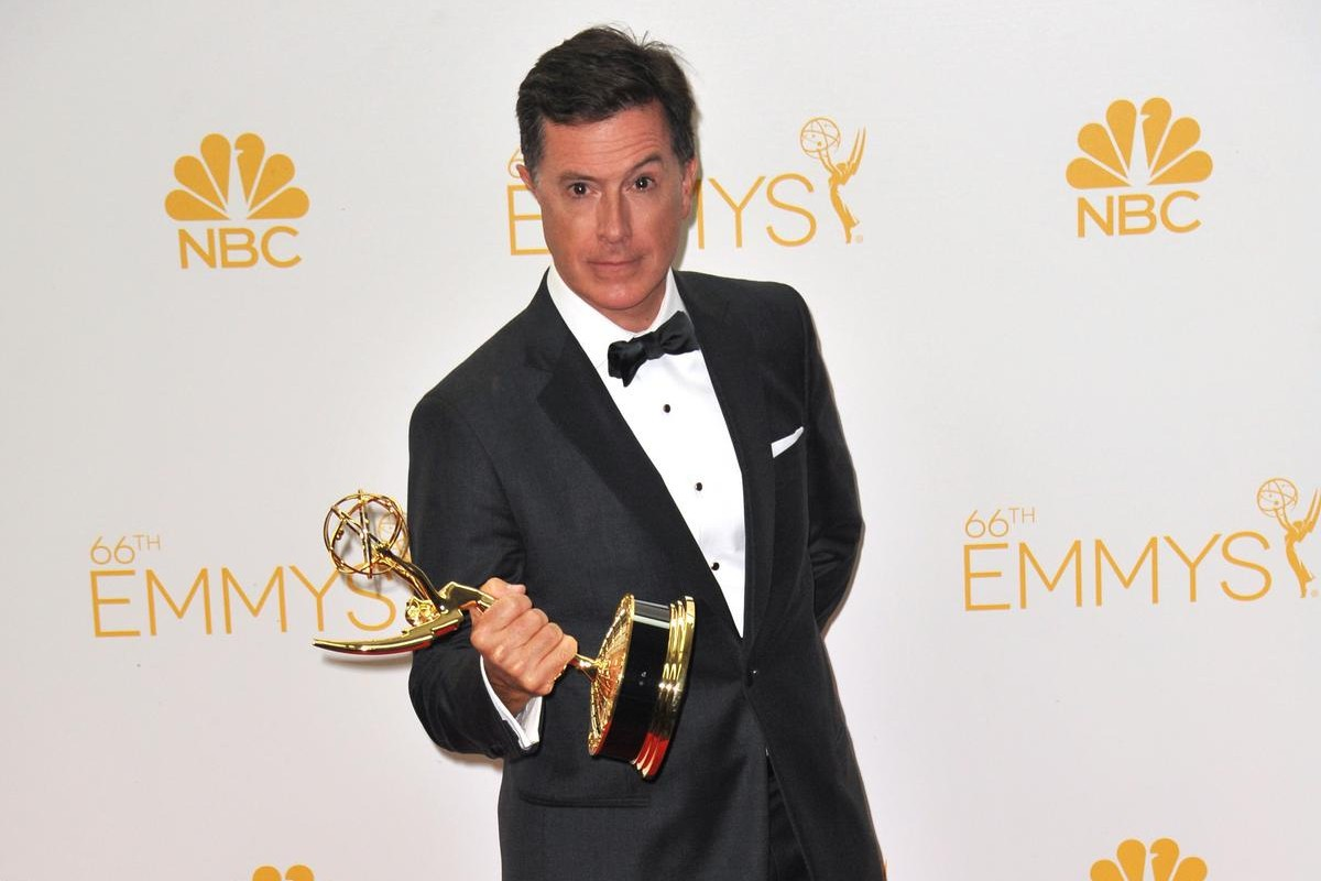 Stephen Colbert at the 66th Primetime Emmy Awards at the Nokia Theatre in LA—ESME.com
