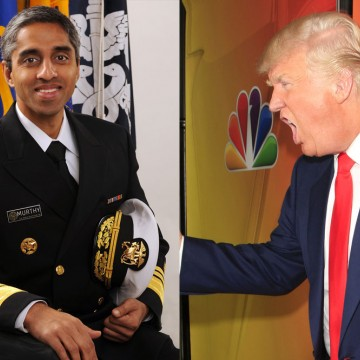Vivek H. Murthy, USPHS 19th Surgeon General of the United States and Donald Trump—ESME.com
