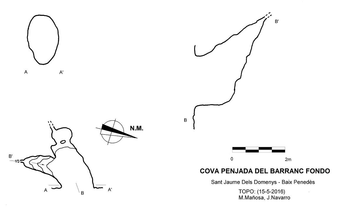 topo Cova Penjada del Barranc Fondo