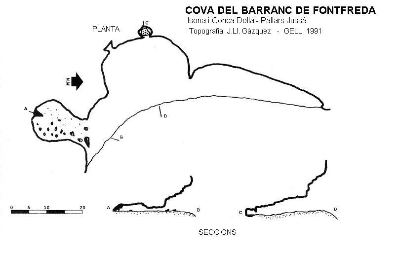 topo Cova del Barranc de Fontfreda