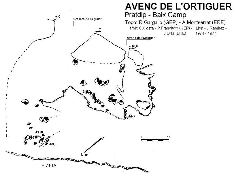 topo Avenc  Grallera de l'- Ortiguer Aguiler