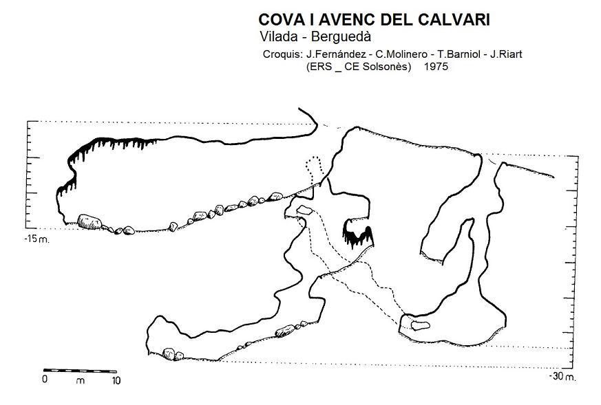 topo Cova I Avenc del Calvari