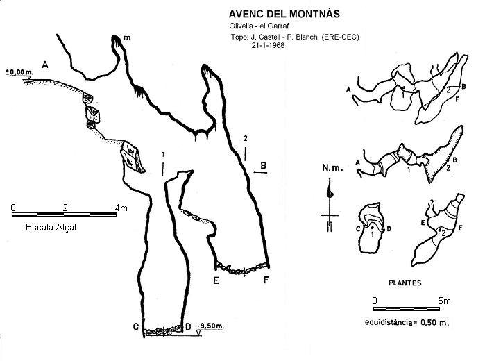 topo Avenc del Montnàs