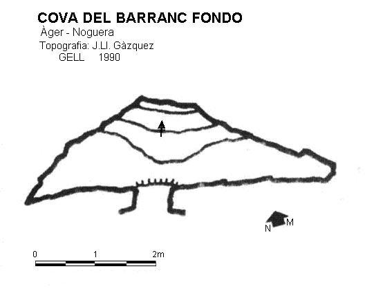 topo Cova del Barranc Fondo