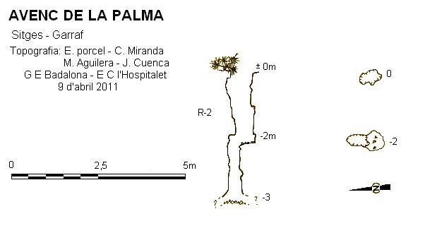 topo Avenc de la Palma