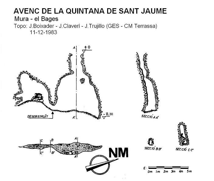 topo Avenc de la Quintana de Sant Jaume
