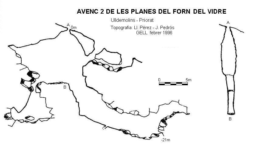 topo Avenc 2 de les Planes del Forn del Vidre