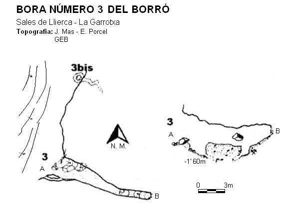 topo Bora Número 3 del Borró