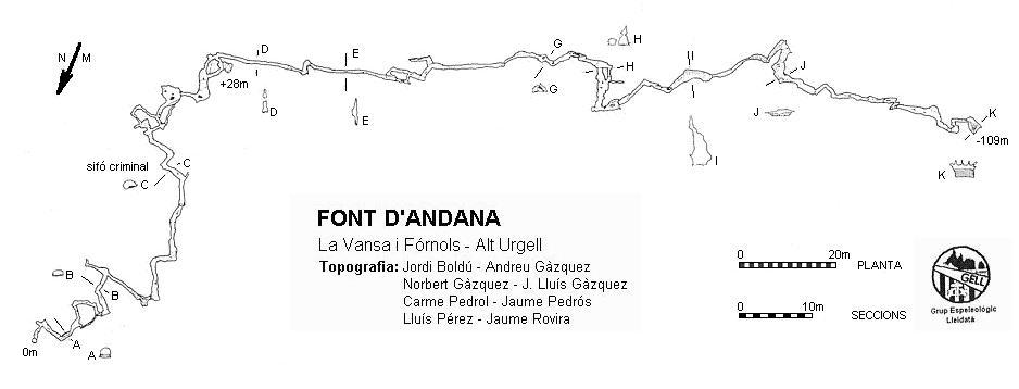 topo Font d'Andana