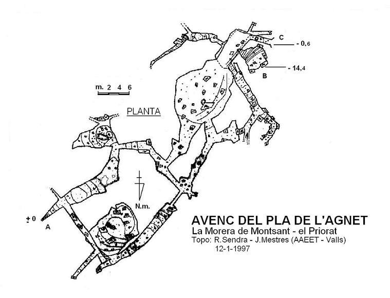 topo Avenc del Pla de l'agnet