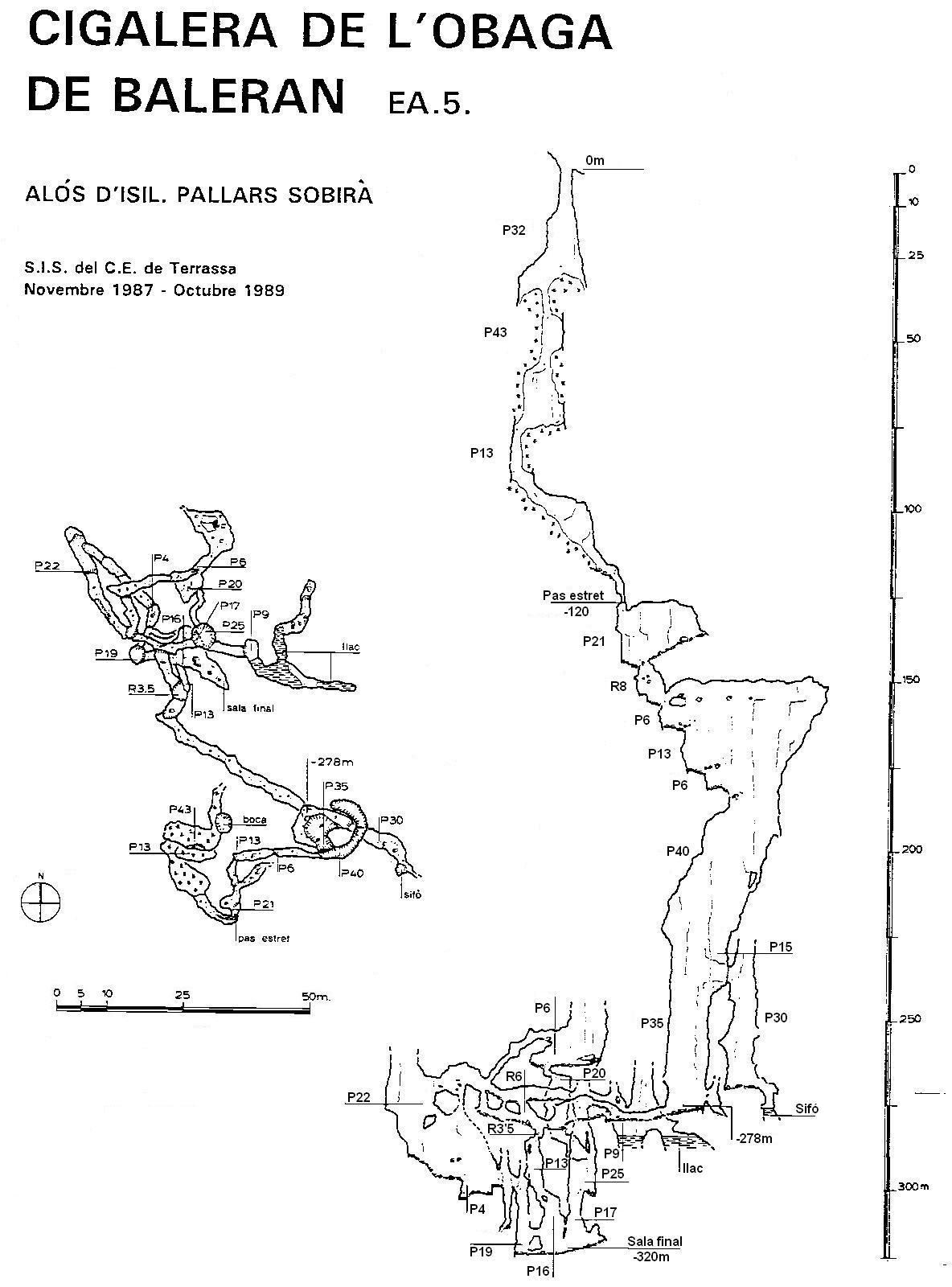 topo Cigalera de l'Obaga de Baleran