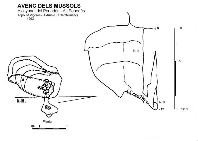 topo Avenc dels Mussols