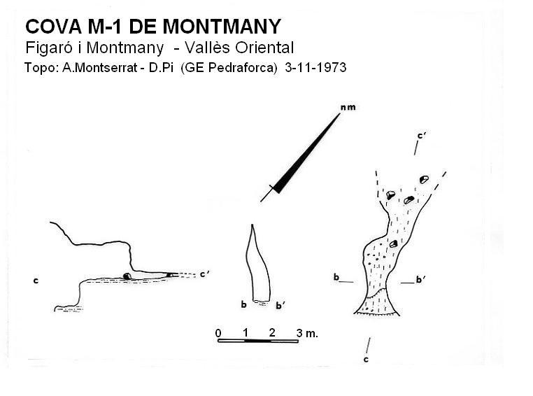 topo Cova M-1 de Montmany
