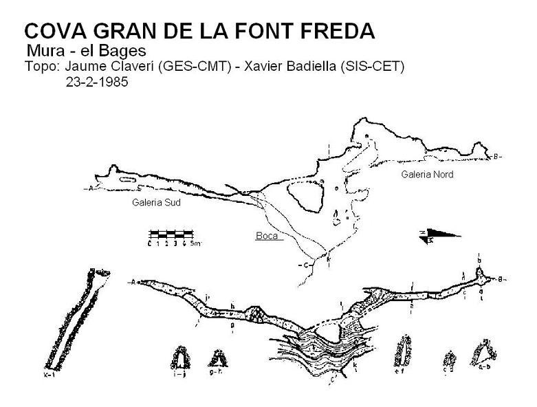 topo Cova Gran de la Font Freda