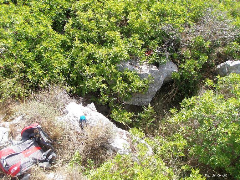 foto Avenc Sm-13 del Serrat de la Morella