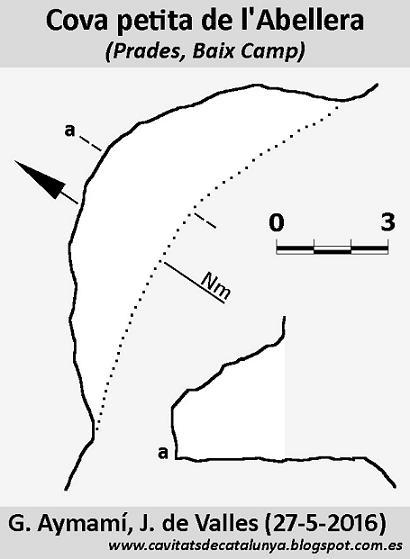topo Cova Petita de l'Abellera