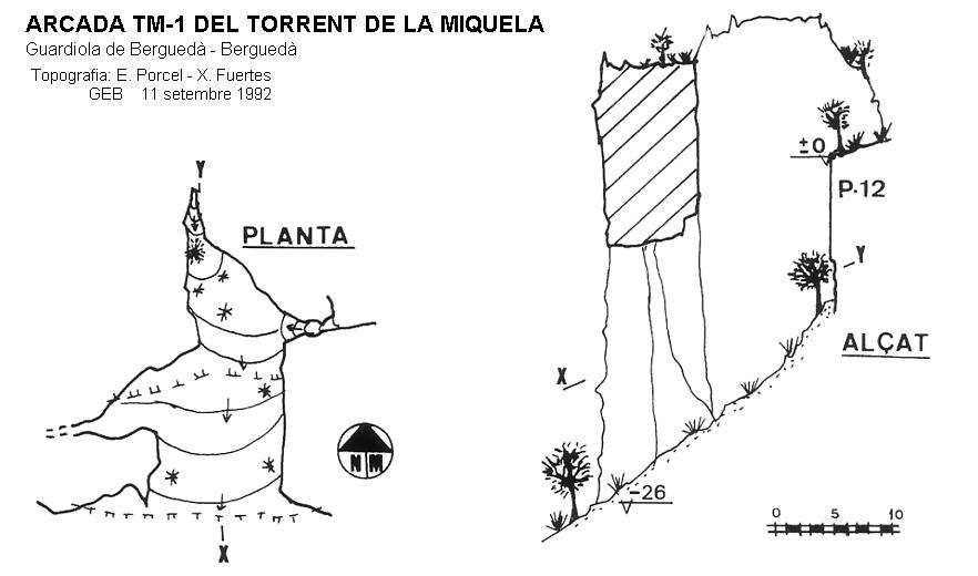 topo Arcada Tm-1 del Torrent de la Miquela