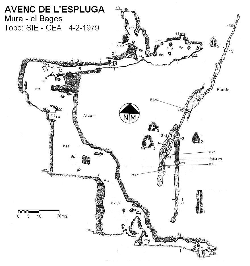 topo Avenc de l'Espluga