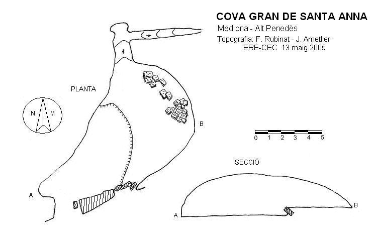 topo Cova Gran de Santa Anna