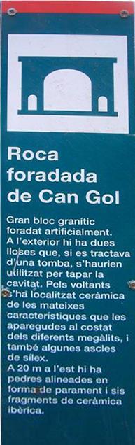 foto la Roca Foradada de Can Gol