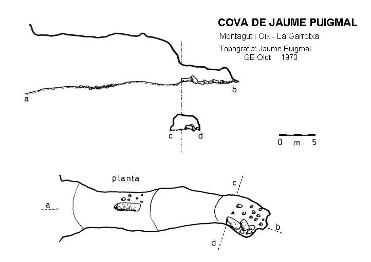 topo Cova d'en Jaume Puigmal